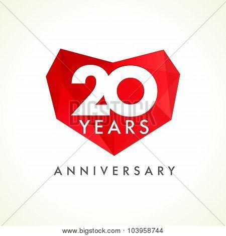 20 anniversary heart logo