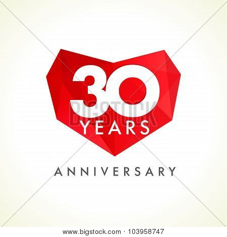 30 anniversary heart logo