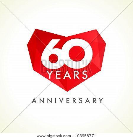 60 anniversary heart logo.