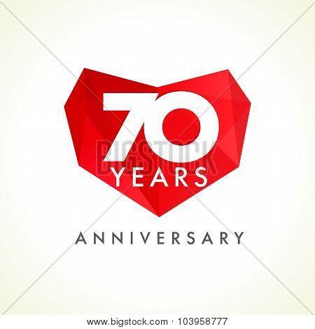 70 anniversary heart logo.