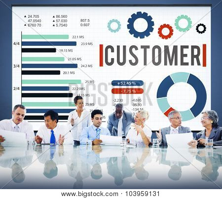 Customer Market Business Corporate Target Concept