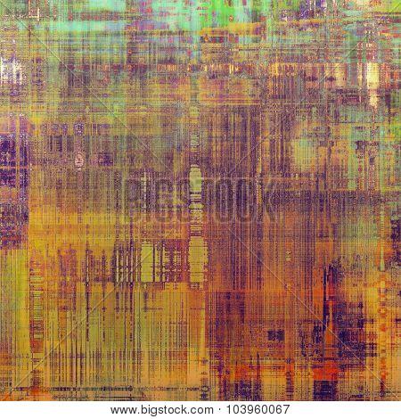 Old, grunge background or ancient texture. With different color patterns: yellow (beige); brown; blue; green; purple (violet)