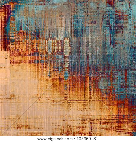 Grunge, vintage old background. With different color patterns: yellow (beige); gray; blue; red (orange)