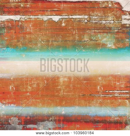 Grunge old-school texture, background for design. With different color patterns: brown; blue; red (orange); cyan