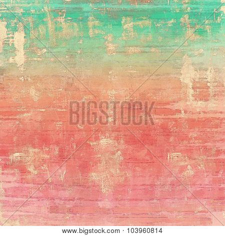 Grunge retro vintage textured background. With different color patterns: brown; red (orange); green; pink