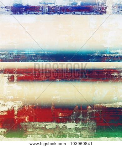 Retro texture. With different color patterns: yellow (beige); blue; red (orange); green