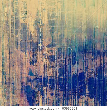 Retro background with grunge texture. With different color patterns: brown; blue; green; purple (violet)