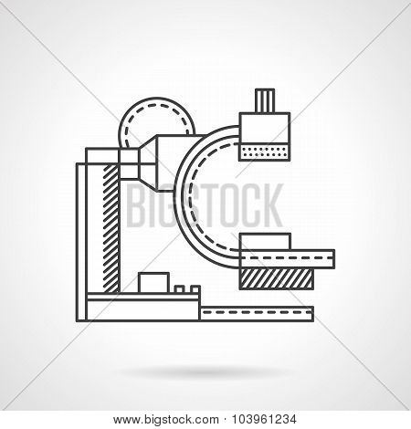 MRI machine flat line vector icon
