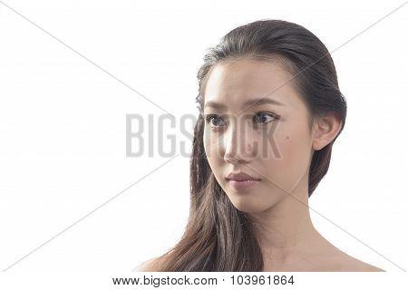 Asian Woman Feeling Blue