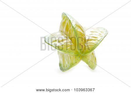 Carambola, Star Fruit Isolated On White Background
