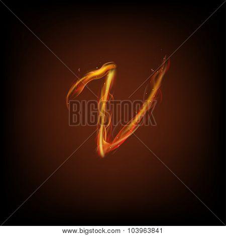 Alphabets of fire.
