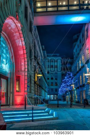 Christmas Lights Decoration At Lse Old Building In London
