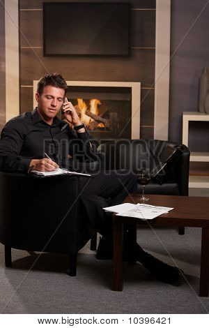 Businessman Working At Home