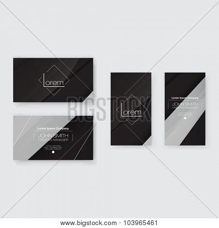 Abstract Business Card Template Set | Modern Vector Design