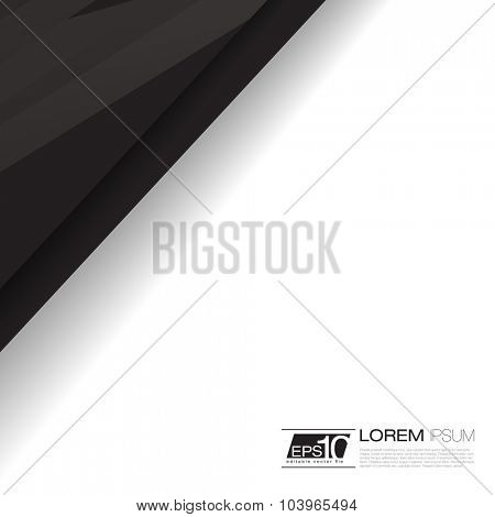 Abstract Lines Vector Background for Business Template