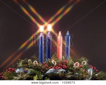 Advent Kerze des Friedens