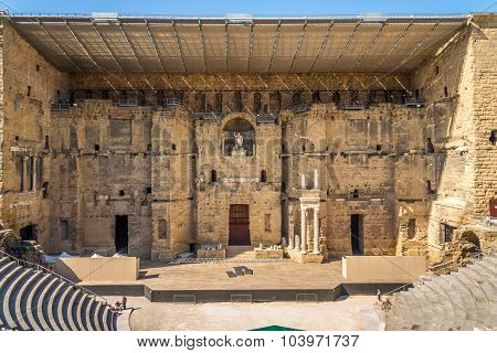 The Roman Theatre In Orange - France