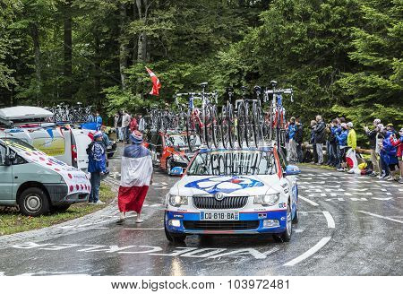 The Car Of Fdj.fr Team - Tour De France 2014