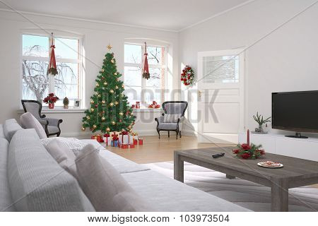 Apartment - Living Room - Christmas