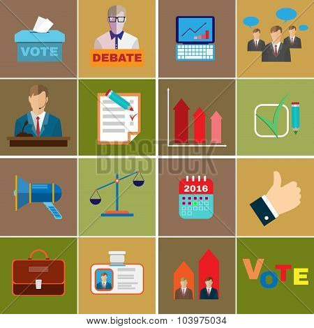 Elections Themed Icons