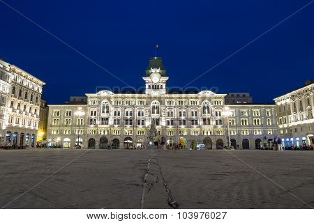 City Hall Of Trieste, Italy