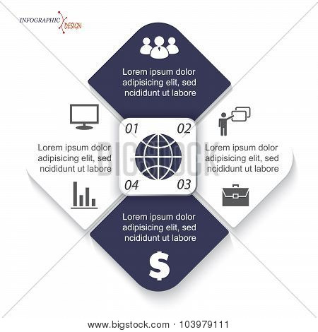Vector Infographic Template For Business Project Or Presentation Can Be Used For Web Design