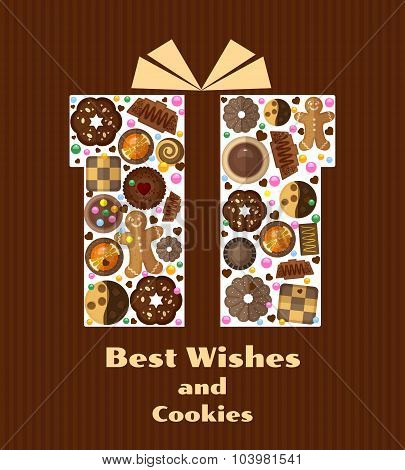 Gift box with cookies