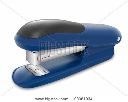 Office Stapler In Perspective View. Vector Illustration