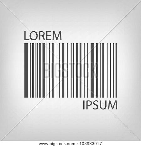 Grey barcode