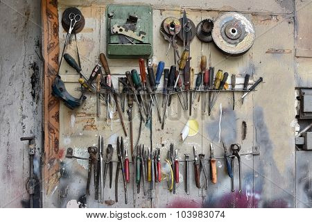 Door With Tools