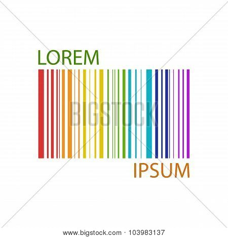 Colorful rainbow barcode