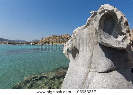 rock formations in kolymbithres beach, Paros island, Cyclades