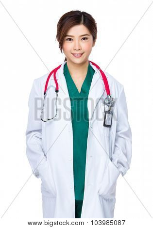 Woman doctor portrait