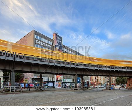 Berlin, Germany, - August 30, 2015: Schlesisches Tor station