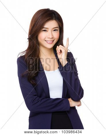 Young businesswoman think of idea