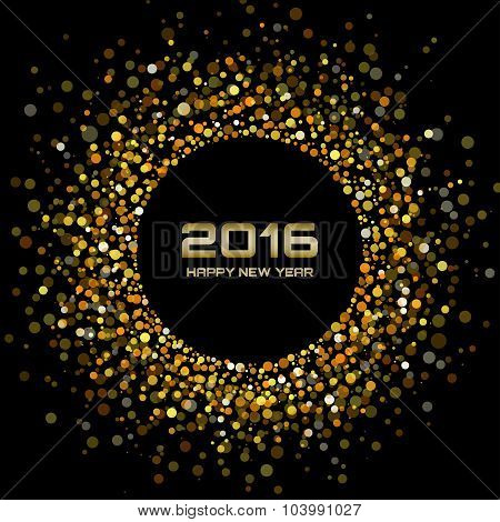Gold Bright New Year 2016 Background