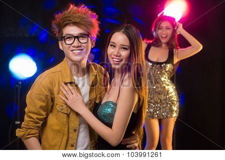 Cheerful Couple In The Club