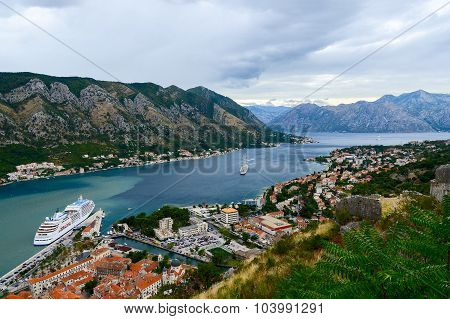 Top View Of The Bay Of Kotor, Montenegro