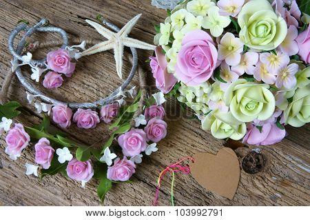 Clay Flower, Wedding, Handmade