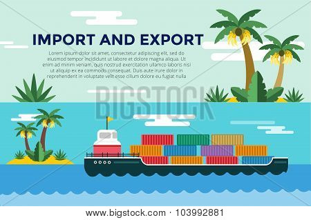 Vector transportation concept illustration global
