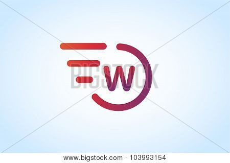 W letter vector logo monogram icon