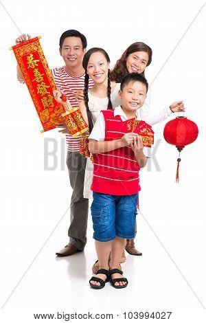 Cheerful Family On Tet