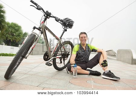 Having Rest After Cycling
