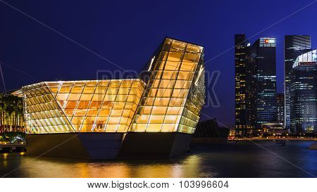 Loius Vuitton Store At Marina Bay, Singapore , Twilight