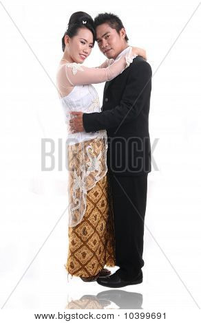 happy romantic asian couple