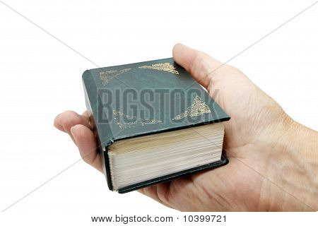 hand with the book