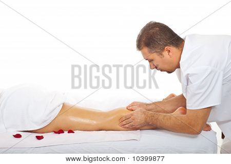 Woman Leg Muscles Massage