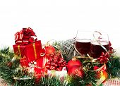 Постер, плакат: Праздничные подарки и украшения