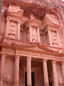 stock photo of petra jordan  - The Treasury at Petra - JPG