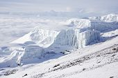 picture of kilimanjaro  - The Southern Icefield seen from the rim of Kibo Mount Kilimanjaro - JPG
